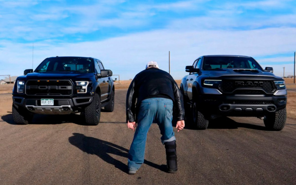 Ram 1500 TRX vs. Ford F-150 Raptor: Who's Better? (VIDEO)