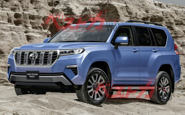 The new generation of Land Cruiser Prado is more declassified