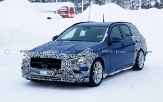 Mercedes-Benz has begun tests of the new C-Class
