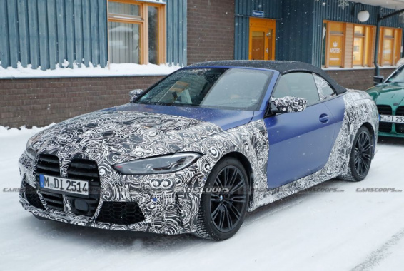 Photos of BMW M4 Convertible 2022 in camouflage