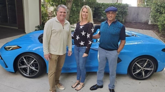Sylvester Stallone has a brand new Chevrolet Corvette