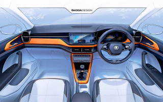 Skoda showed the interior of the newest compact SUV