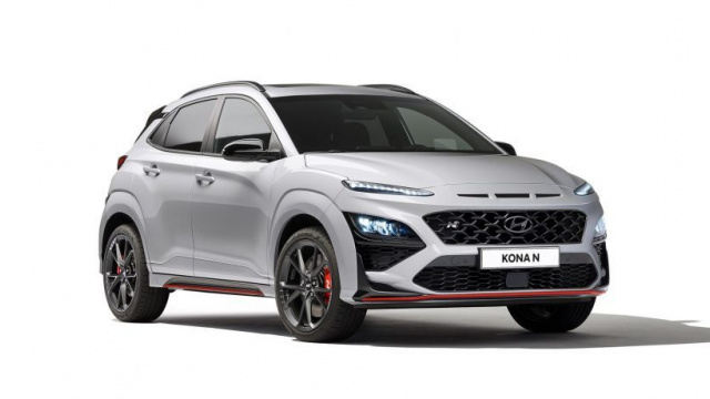Hyundai Kona N crossover without camouflage