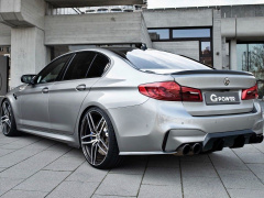 According to its vision, the German tuning studio G-Power redesigned the BMW M5 sports sedan, calling the car G5M Hurricane RR