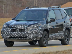 The updated Subaru Forester is out on the road for tests