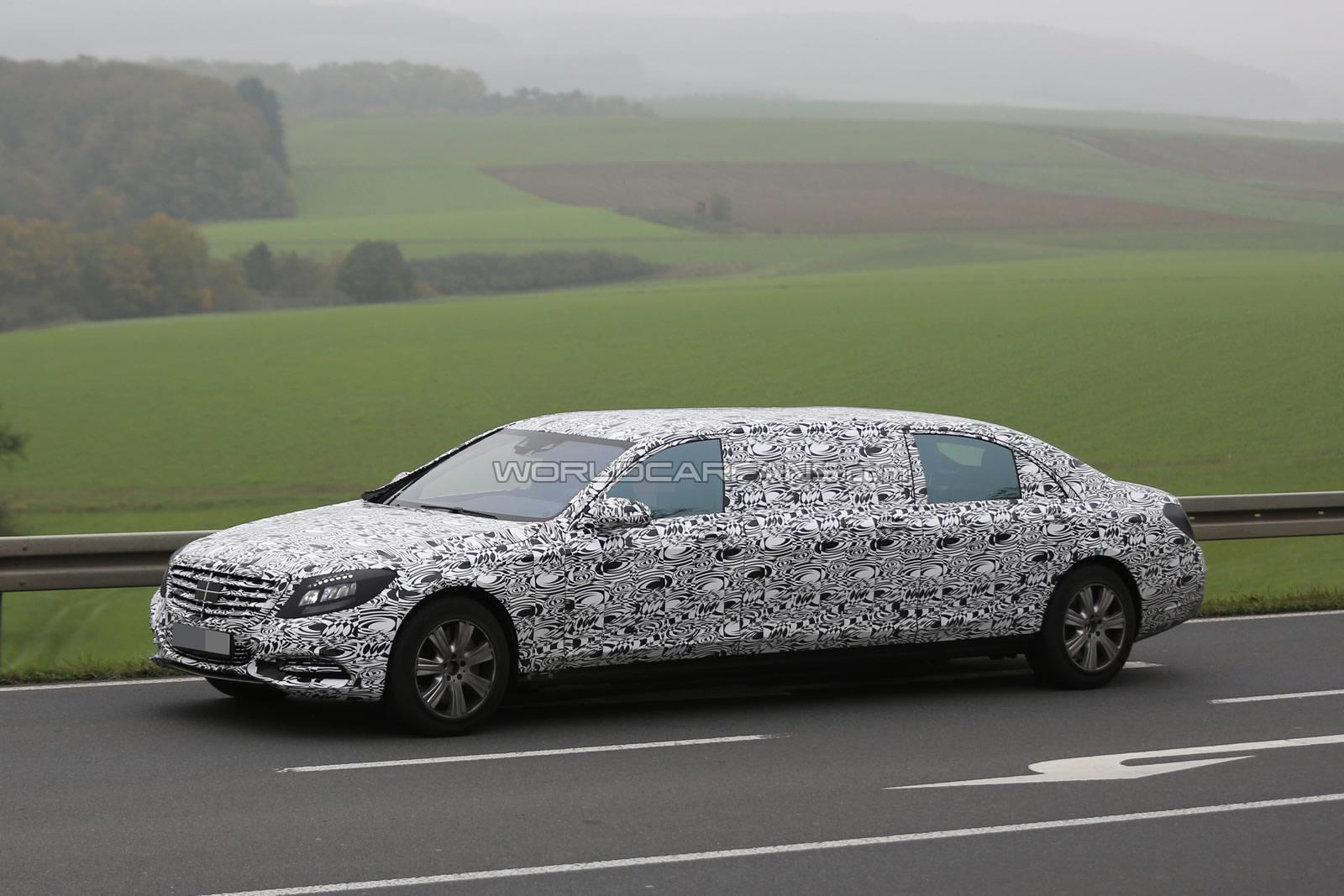 Mercedes-Maybach S-Class Pullman will be shown at the Motor Show in Geneva in 2015