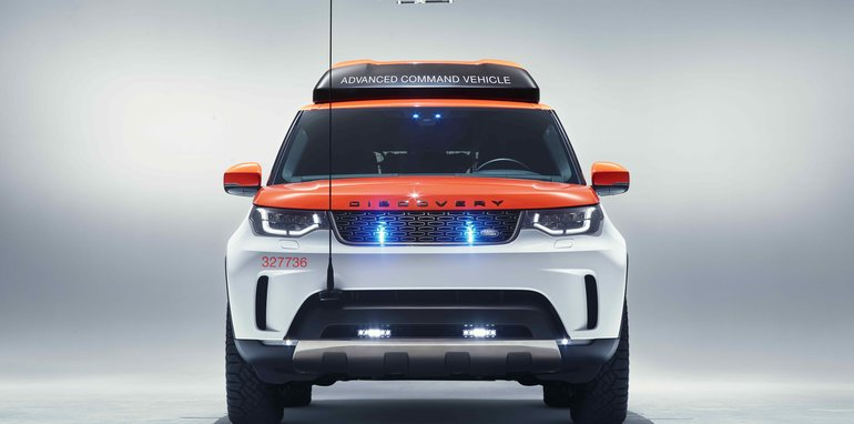 A Drone Landing On Land Rover Discovery Will Save More Lives