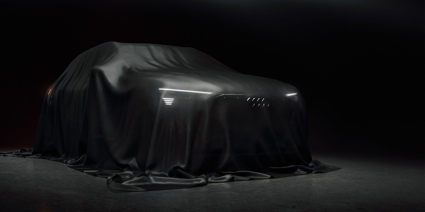 Audi showed a first electric crossover in the new image