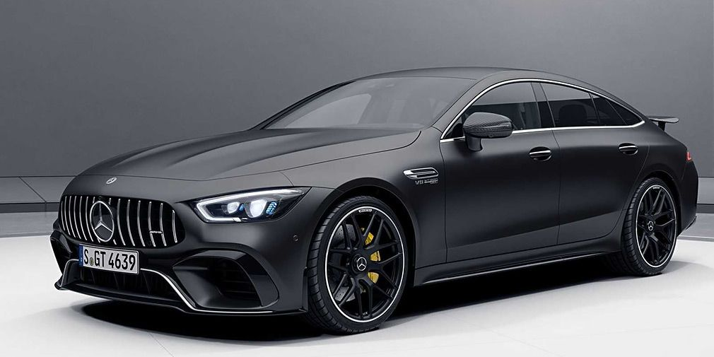Mercedes provided the 4-door AMG GT with an aerodynamic body kit