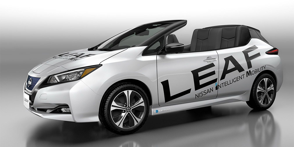The new Nissan Leaf said goodbye to the roof