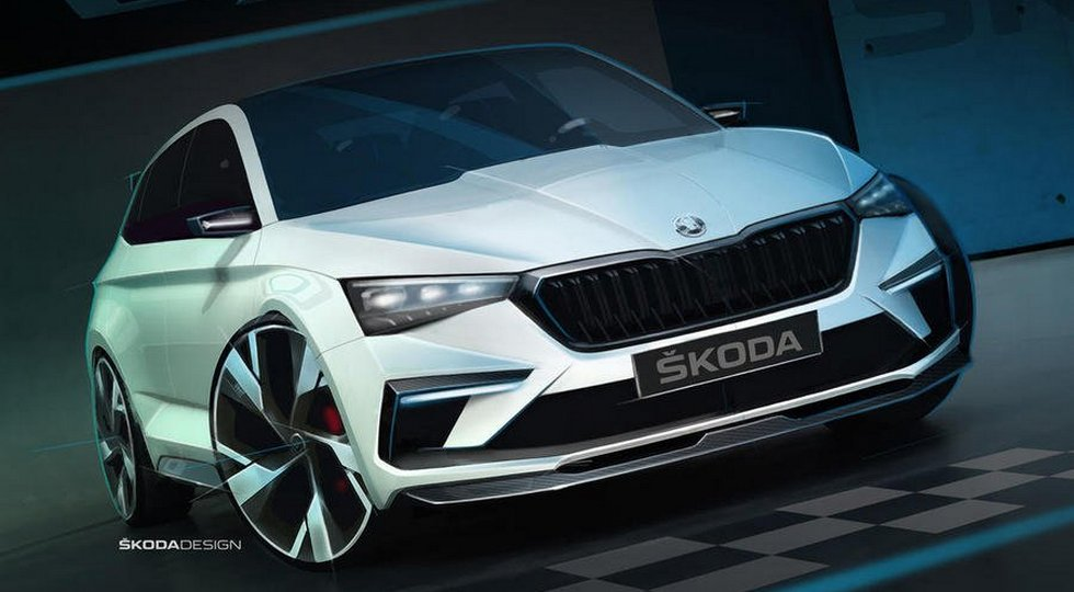 A precursor of the newest Skoda Rapid is the 245-strong hybrid