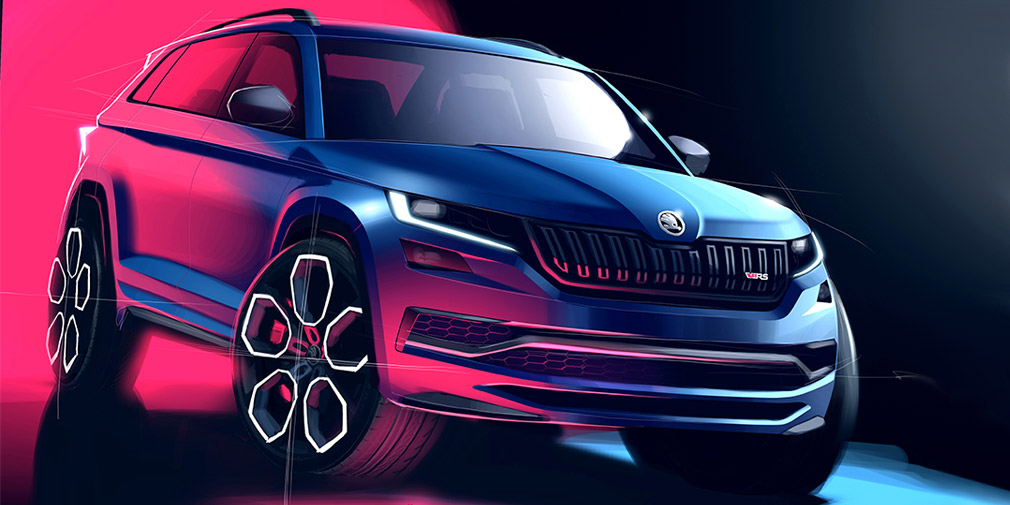 The fastest Skoda Kodiaq design officially declassified