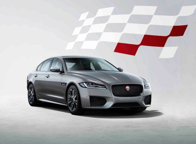 Jaguar presented the XF Checkered Flag special version