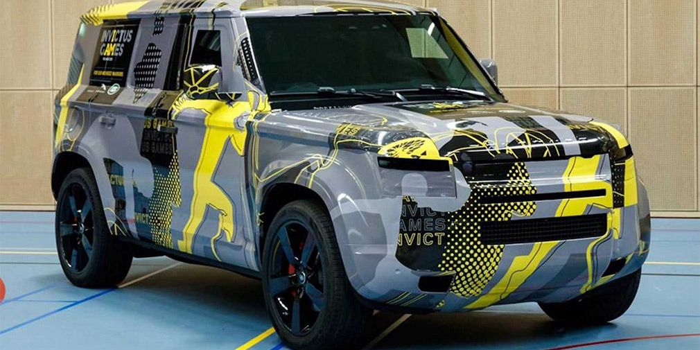 New Land Rover Defender removed a camouflage part