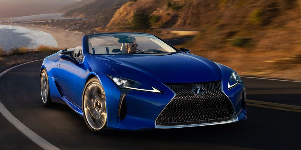 Lexus LC turned into a luxury convertible