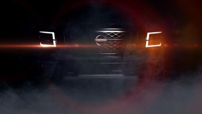 "The ""charged"" Nissan Titan shown on the teaser"