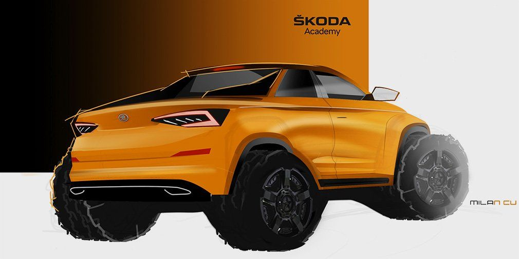 Skoda' students created a Kodiaq pickup
