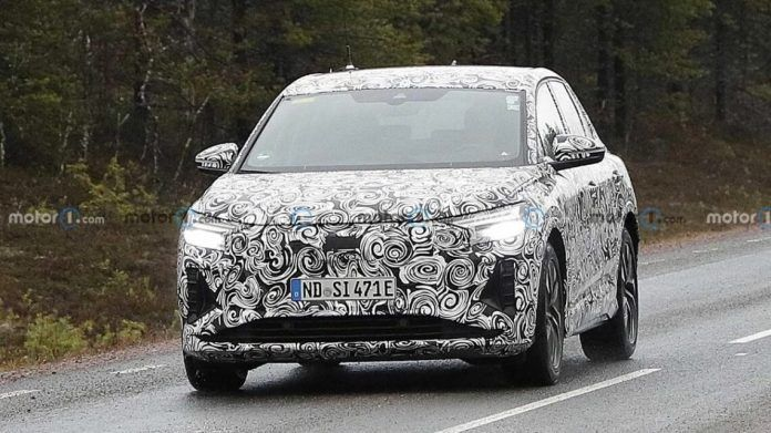 Audi Q4 E-Tron SUV undergoes tests in Sweden