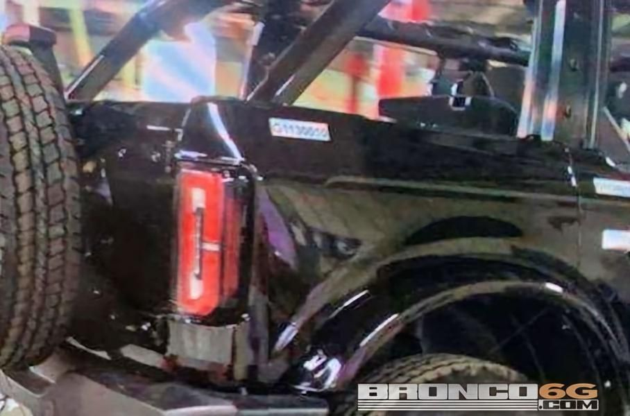 New serial Ford Bronco photographed on the conveyor